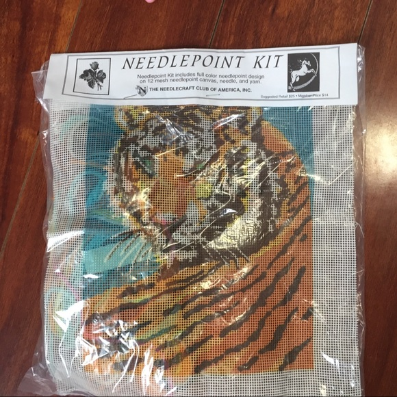 "TIGER Portrait Tapestry Needlepoint KIT ""10.5-12.5"""